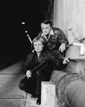 Robert Vaughn and David McCallum in The Man from U.N.C.L.E. rifles in tu... - $69.99