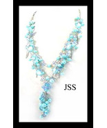 Blue Stone Necklace - $17.50