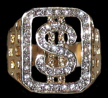 Ring dollar sign black