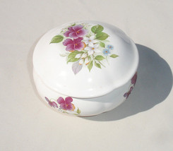 Floral Pansies Music Trinket Box by San Francisco Music Box Company - $37.58