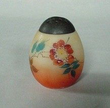 GORGEOUS VINTAGE MT WASHINGTON BURMESE STYLE SHAKER YELLOW PEACH FLORAL - $32.50