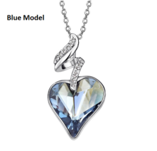 Necklaces & Pendants For Women - Austrian Crystal Rhinestones 4 Color Heart Love image 2