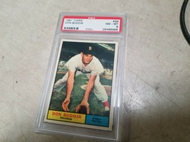 1961 TOPPS #99 DON BUDDIN RED SOX POP 7 PSA 8 BASEBALL CARD GRADED - $23.75