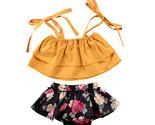 S girls sister clothes sets strap tops sleeveless vest floral shorts 2pcs clothing thumb155 crop