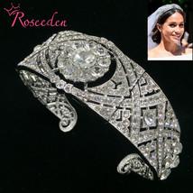 Markle wedding tiara queen mary tiaras rhinestone crystal royal queen crown bridal hair thumb200