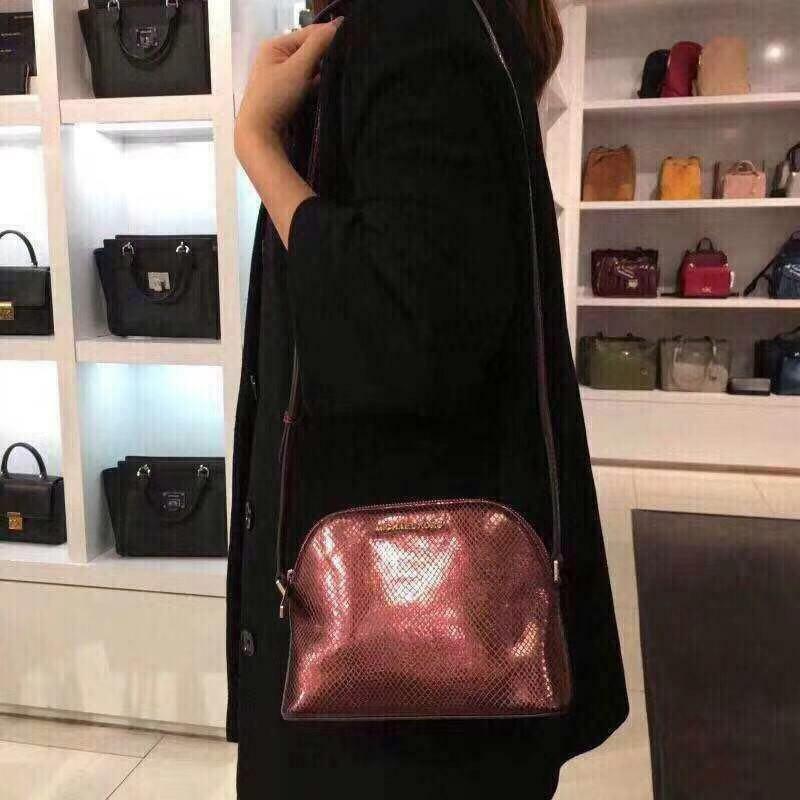 NWT Michael Kors ADELE Medium Dome Pebbled Leather Crossbody Bag