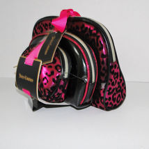 Juicy Couture Leopard Pink & Black Cosmetic Travel Case Set image 3