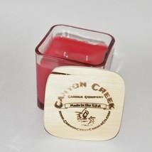 NEW Canyon Creek Candle Company 14oz Cube jar SWEET APPLE scented Handmade! - $44.94