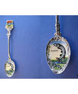 KENORA Ontario Souvenir Collector Spoon ENAMEL Collectible FISH FISHING - $7.95