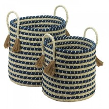 Braided Baskets With Tassels - $129.67