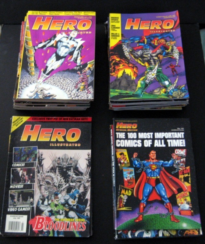 Primary image for Hero Illustrated Magazines Issues By Warrior Publishing Lot