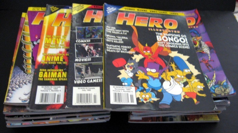 Hero Illustrated Magazines Issues By Warrior Publishing Lot