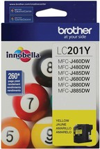 Brother LC201Y Yellow Ink cartridge For MFC-J460DW, MFC-J480DW, MFC-J485DW - $23.71
