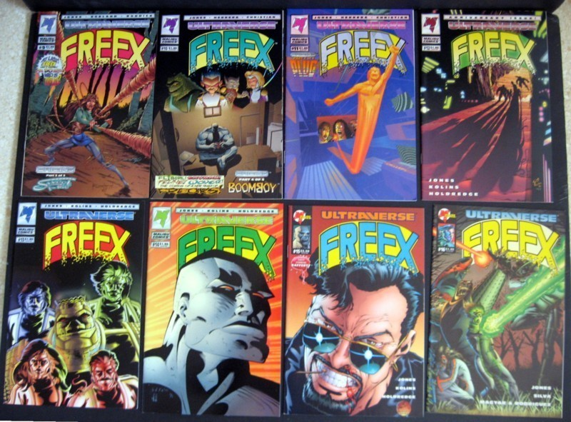 Freex #1-18, Giant- Size #1 Complete Run Malibu Ultraverse