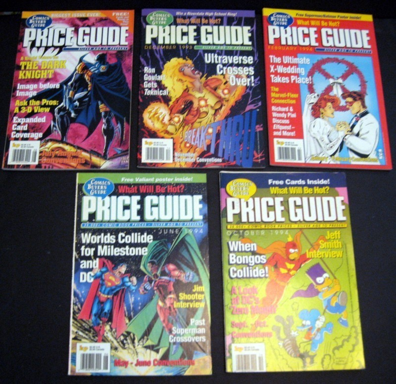 Comics Buyers' Guide (CBG) Price Guide Magazines Lot Krause Publications