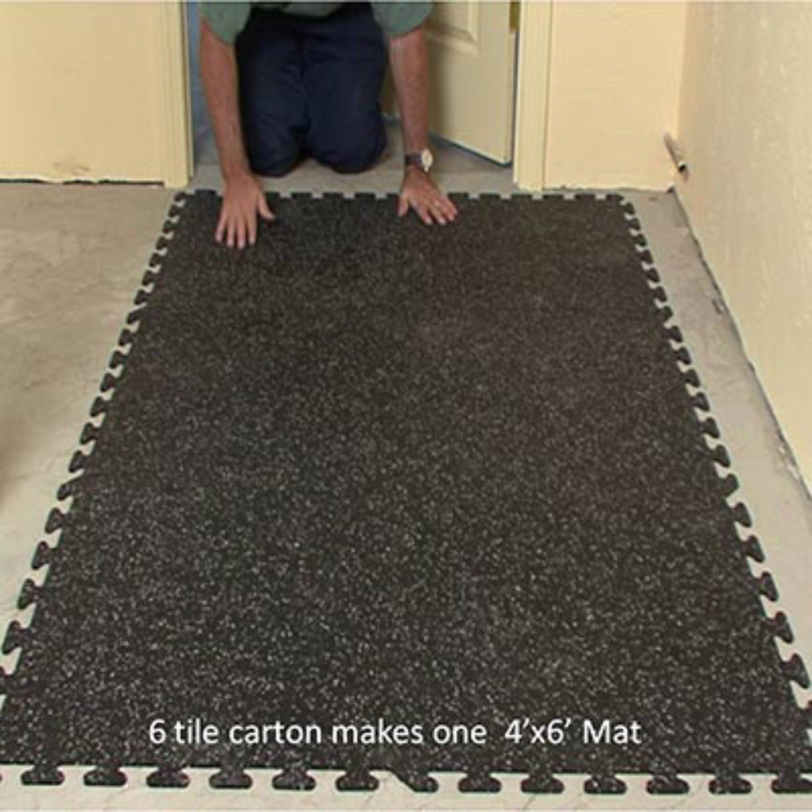 Ez-Flex Interlocking Rubber Floor Tiles - New - Floor Mats,Floor Tiles, Flooring