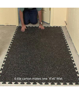 Ez-Flex Interlocking Rubber Floor Tiles - New - Floor Mats,Floor Tiles, ... - $134.99