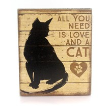 "All You Need is Love and a Cat Box Sign Primitives by Kathy 5"" x 6"" - $16.95"