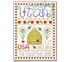 Utah Little State Sampler cross stitch chart Alma Lynne Originals - $6.50