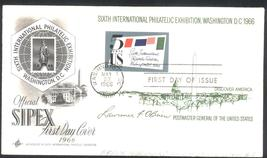 SIPEX Souvenir Sheet FDC May 23, 1966 with cachet Scott #1311 - $1.99