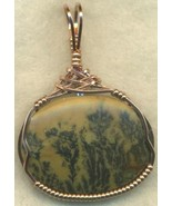 Dendritic Jasper Copper Wire Wrap Pendant 27 - $39.88
