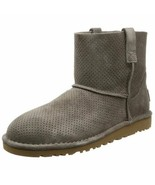 UGG Boots Unlined Mini Perforated Leather Gray Size 6 - $89.09