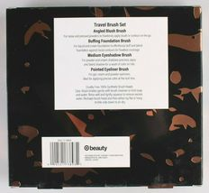 New 10 pc. Cosmetic Travel + Contour Foundation Brush Set With Bonus Bags image 3