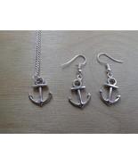 Tropicalia Handcrafted Necklace Earrings Sail Anchor Tibetan Silver Sea ... - $1.00+