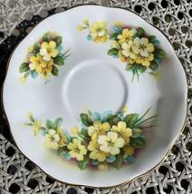 Royal Albert Yellow Primrose Bone China Tea Saucer Vintage English Plate... - $2.99