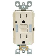 Leviton Tamper Resistant GFCI Outlet w/LED Guide Light X7592-T Light Almond - $34.40
