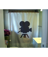 Shower Curtain movie camera vintage Hollywood classic - $64.99