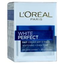 L'Oreal White Perfect Day Cream Tourmaline Skin Whitening SPF 17 20ml - $14.79