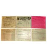 6 1901 DETROIT MI Billhead Document Receipts Dye Stuffs Machinists Insur... - $15.99