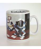 VTG Large Looney Tunes Workaholic Coffee Mug Daffy Duck Bugs Bunny Elmer... - $49.49