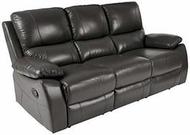 Homelegance Greeley Manual Reclining Sofa, 79 W, Gray Genuine Leather - $1,628.00