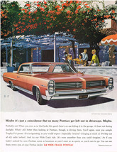Vintage 1964 Magazine Ad Pontiac Maybe Coincidence Pontiacs Left Out In Driveway - $5.93