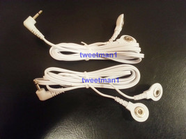 ELECTRODE LEAD WIRES Cables 2.5mm FOR HEALTH HERALD DIGITAL MASSAGER One... - $11.85