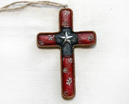 Western cross ornament 008