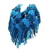 Blue Two Tone Silver Sparkle Tassel Infinity Scarf - €5,43 EUR