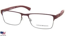 New Emporio Armani Ea 1052 3232 Bordeaux Rubber Eyeglasses Frame 53-17-140 B33mm - $98.94