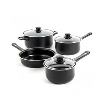 Gibson Home Chef Du Jour 7 Piece Carbon Steel Nonstick Cookware Set in B... - $76.48