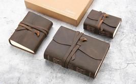 Vintage Leather Notebook Handmade Retro Travel Writing Journal Diary Unl... - $20.26+