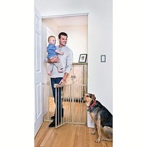 "Metal Walk Through Baby Gate 29""-39.5"" With Extensions For Child Safety New - $54.44"