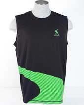 Puma Cell Usain Bolt Collection Black & Green Running Singlet Jersey Mens NWT - $41.24