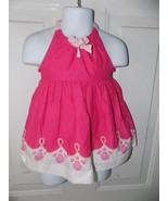 Janie and Jack Pink Sundress W/ Seashells Size 6/12 Months Girl's EUC - $19.44