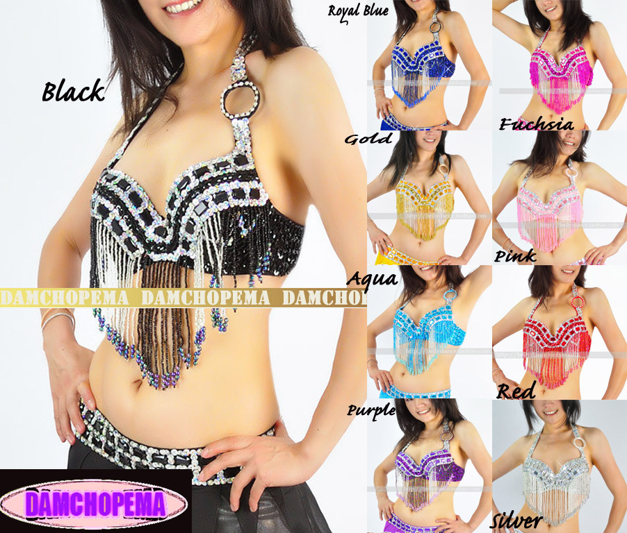 Belly Dance,Dance Costume Bead Bra Top #B10