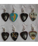 Beatles Handmade Guitar Picks Reverse Convert .925 Earrings Zipper Pulls Set 4  - £19.11 GBP
