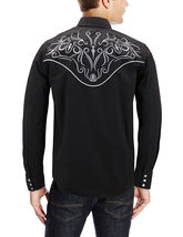 Men's Western Rodeo Style Cowboy Embroidered Tribal Print Dress Shirt image 4