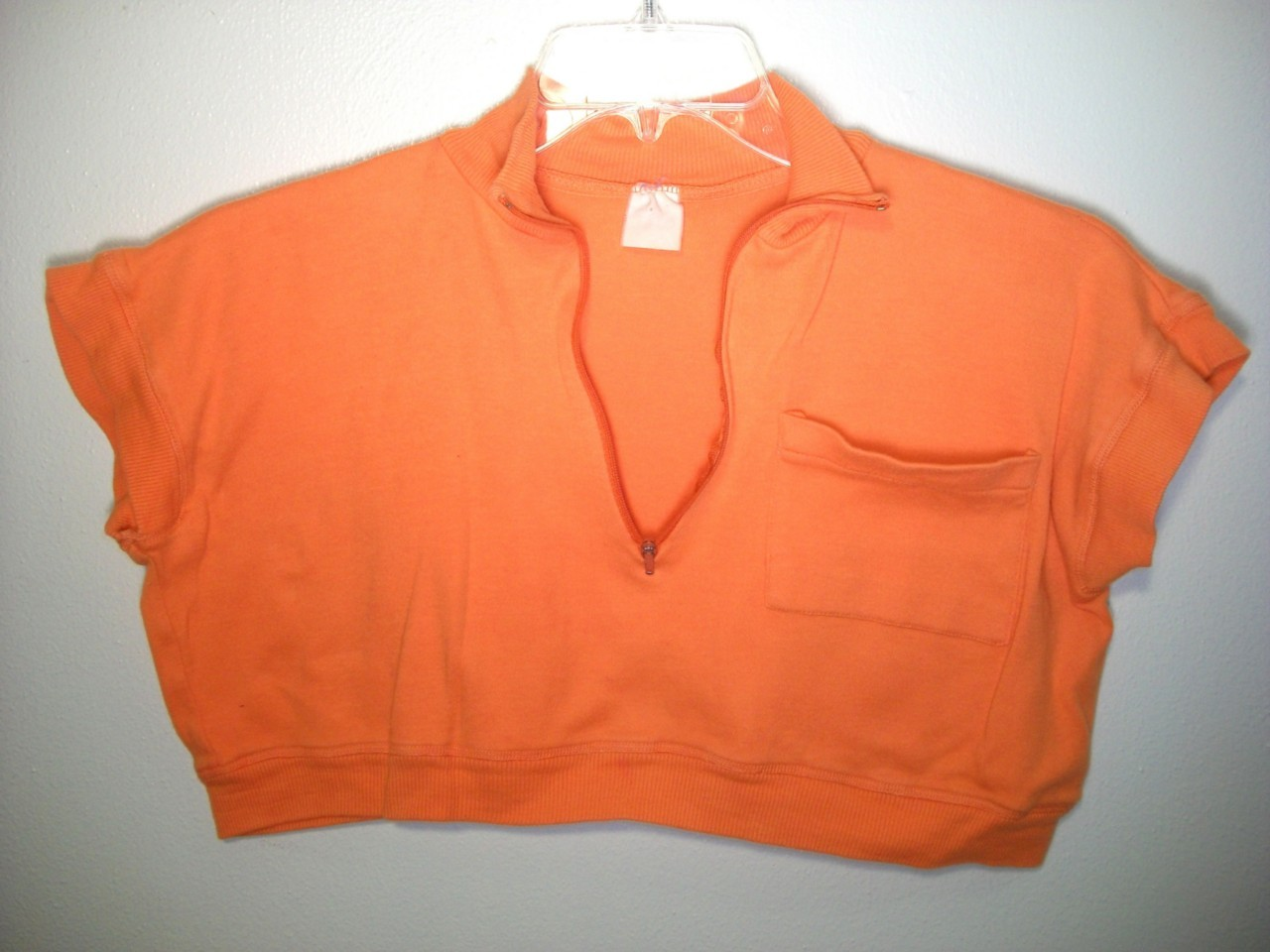 WOMEN ORANGE SPORT TOP SHIRT LARGE L XL EXTRA LARGE