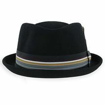 Belfry Crushable Porkpie Fedora Men's Vintage Style Diamond Hat 100% Pur... - $51.21